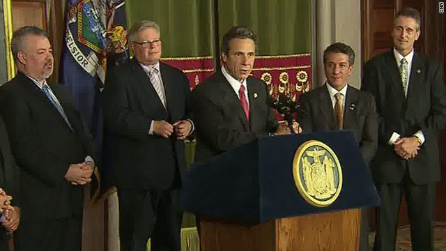 New York Senate approves same-sex marriage. New York Gov.