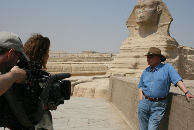 Dr. Zahi Hawass, aka Egypt's Indiana Jones, hopes recent archaeological finds will entice back tourists scared off by the revolution.
