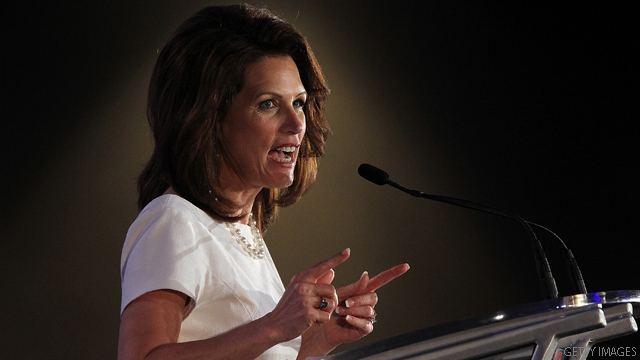 Bachmann boasts of having a 'titanium spine'