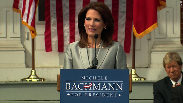 Bachmann announces White House 2012 bid