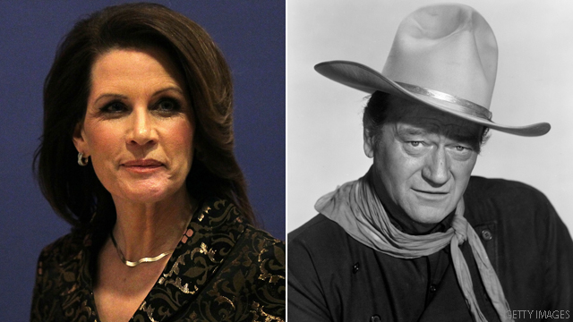 Bachmann&#039;s John Wayne slip