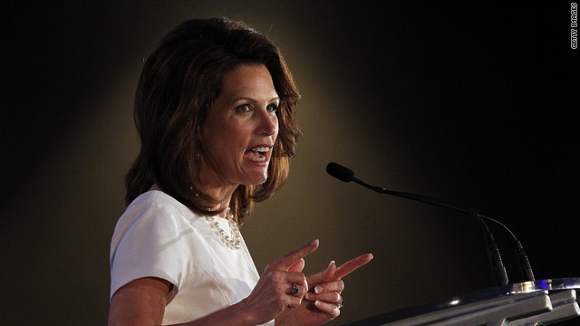 Sharp elbows off-stage with Bachmann