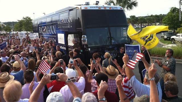 Bachmann bus pulls into Palmetto State