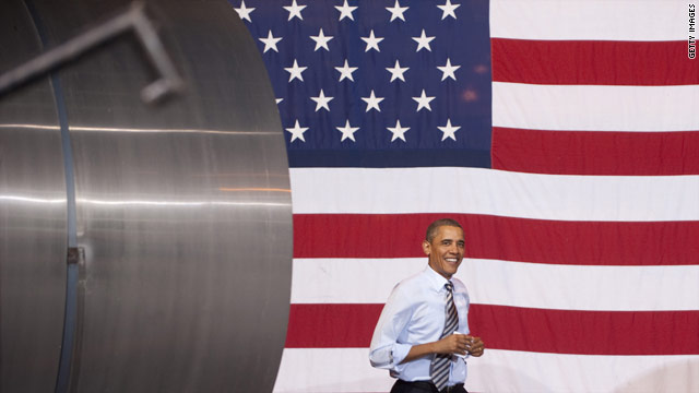 Obama tests campaign themes in &#039;official visit&#039;
