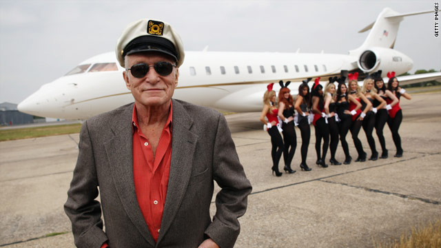 Hef adds another girlfriend to his line-up