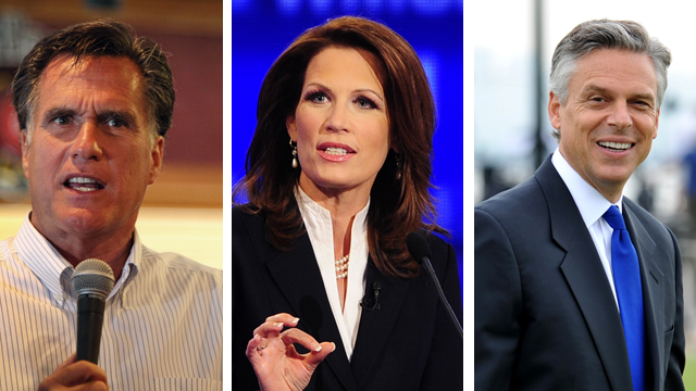 'Cut, Cap and Balance' supporters pressure Romney, Bachmann and Huntsman
