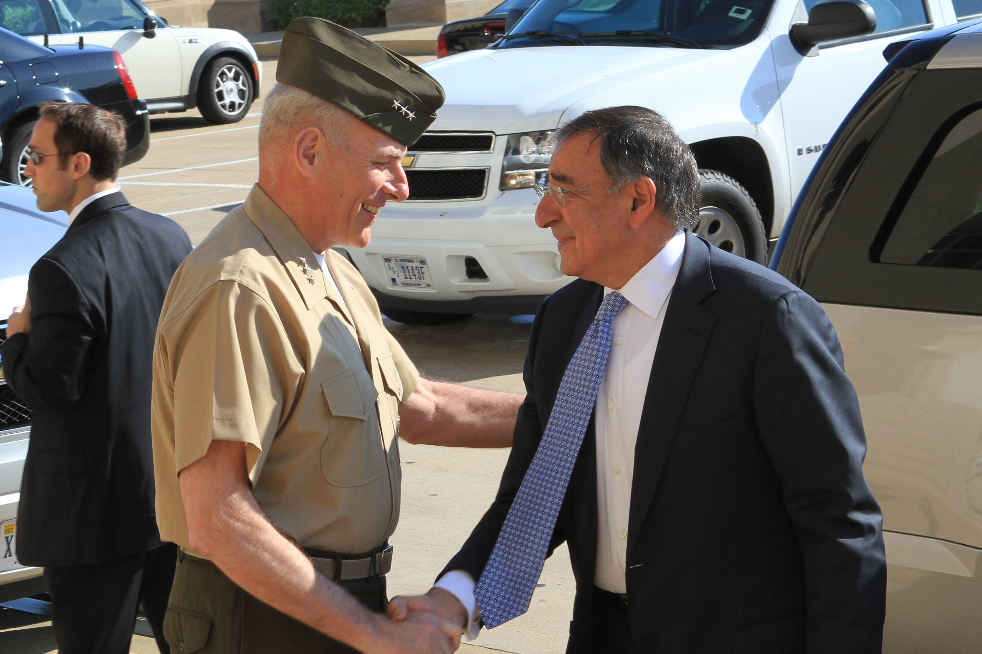 New Defense Secretary arrives at Pentagon