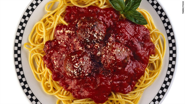 Athletes, please, eat the pasta!