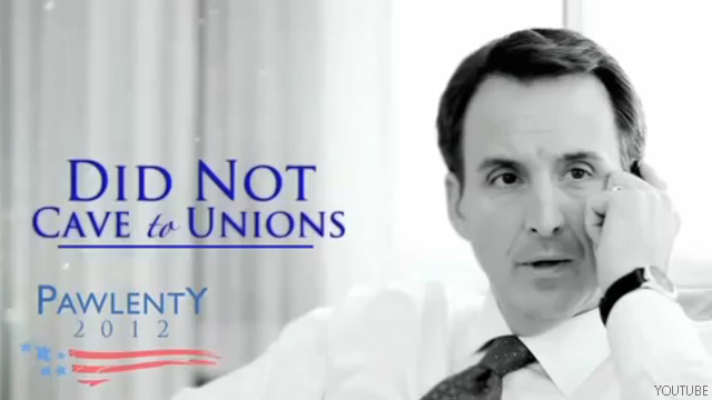Pawlenty of &#039;results&#039; hits Iowa TV