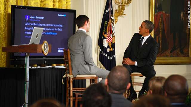 Obama&#039;s Twitter Townhall