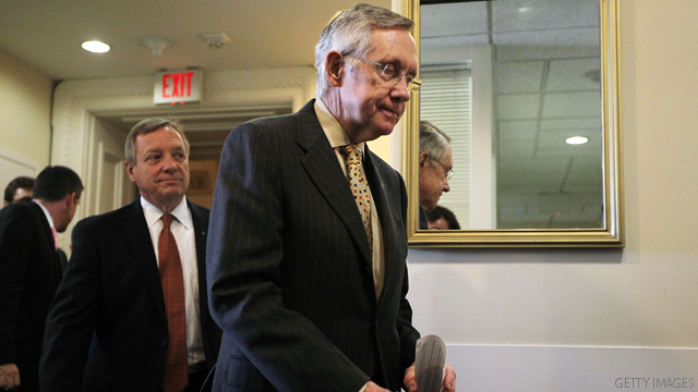 Reid testily refuses to answer questions on debt, social security
