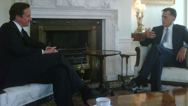 Romney meets with British PM
