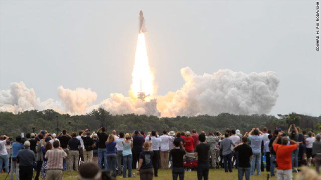 Minute by minute: Atlantis shuttle lifts off for final time
