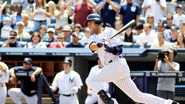 Yankees&#039; Jeter gets 3,000th hit