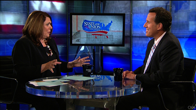 Obama's 'in denial,' Santorum says