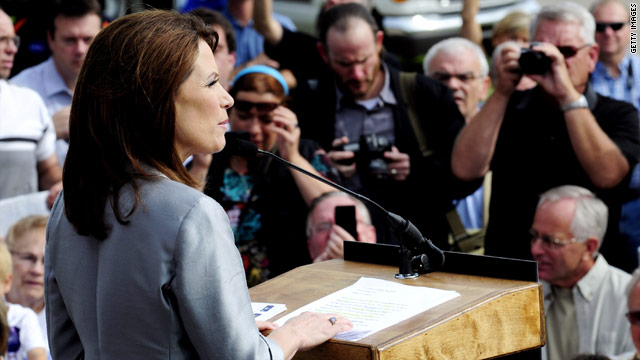 Bachmann at top of list in new Iowa poll