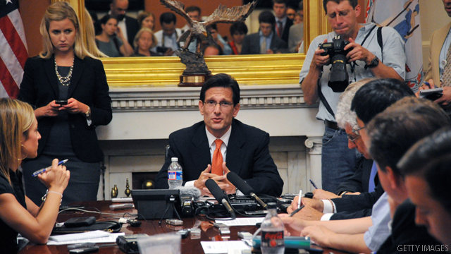 Cantor: No tax increases, denies split with Boehner