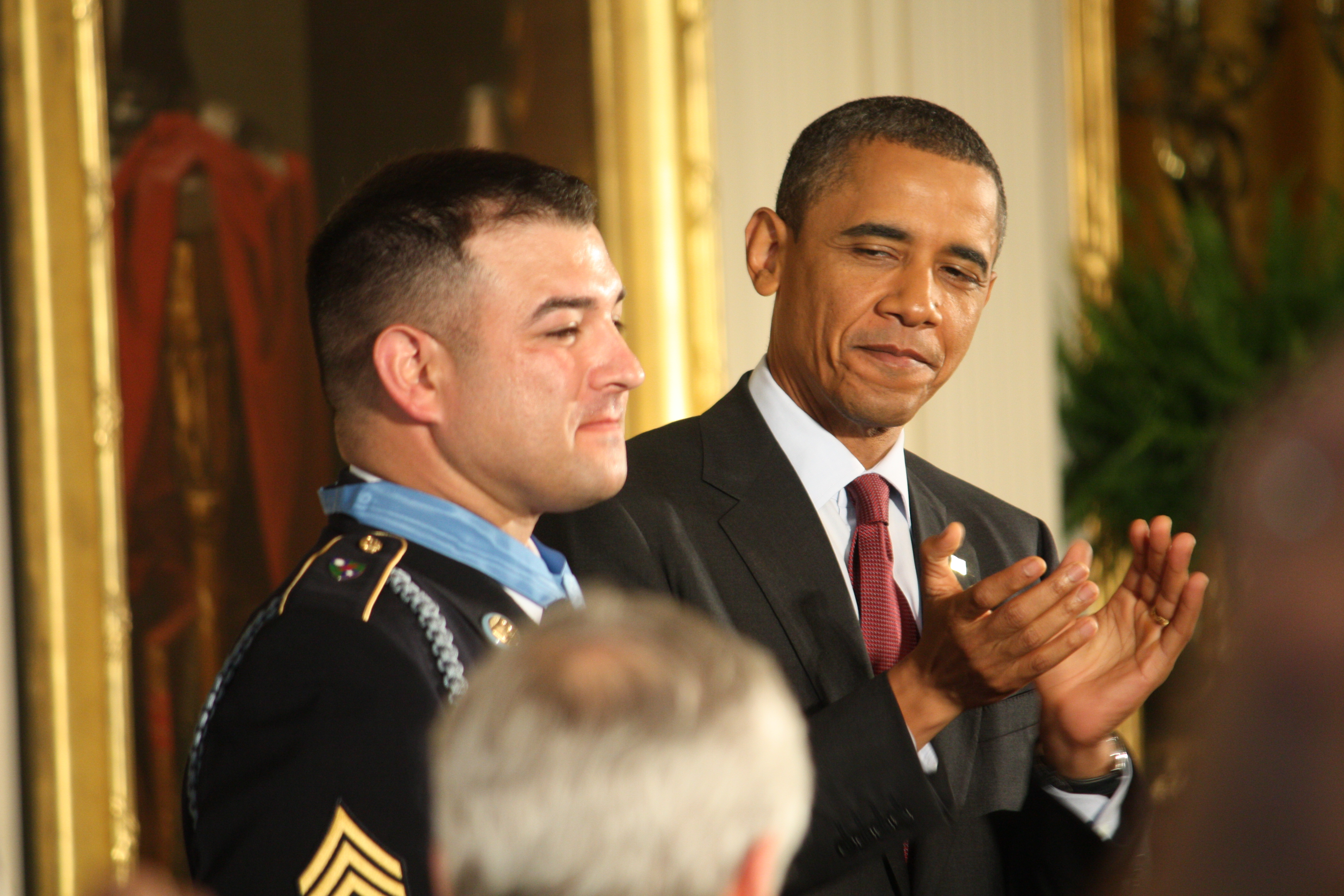 After eight tours of duty and a lost hand, Army Ranger receives Medal of Honor.