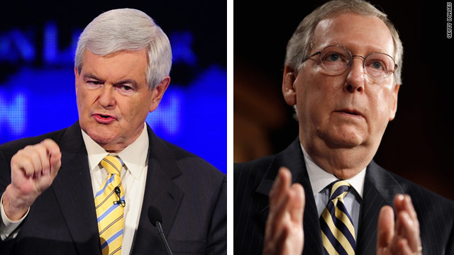 Gingrich blasts McConnell over debt ceiling