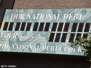 National debt exceeds $14.3 trillion as the government faces an August 2 deadline to get congressional leaders to agree to a deal.