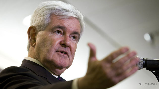 Gingrich praises Perry at tea party event