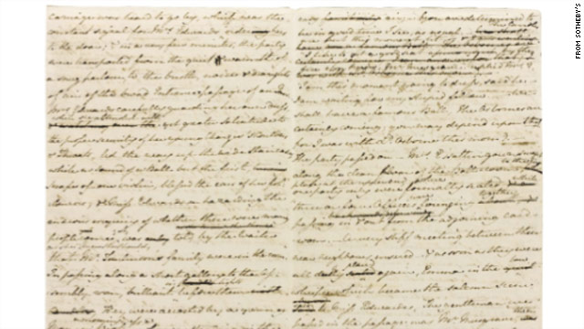Austen manuscript fetches $1.6 million