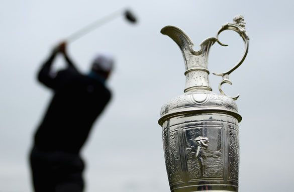 The Claret Jug is the prize for the golfer who conquers the often treacherous British Open with least shots.
