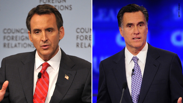 Pawlenty picks fight with Romney