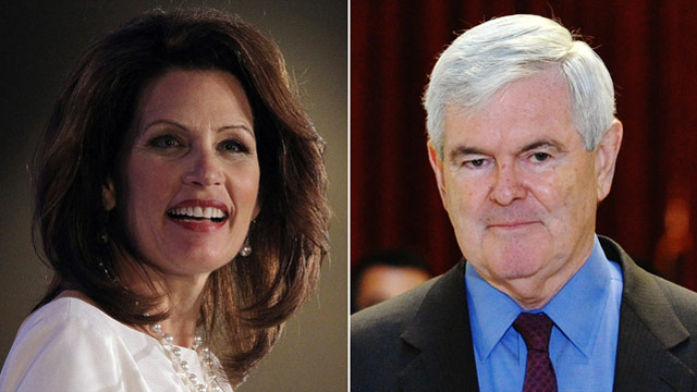 Bachmann posts big numbers, Gingrich big debt