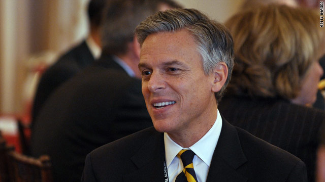 Huntsman jokes about another misspelling