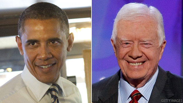 Obama = Carter, Romney says