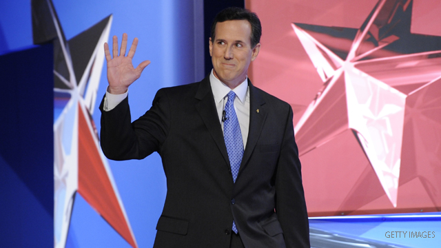 Santorum reveals his campaign cash
