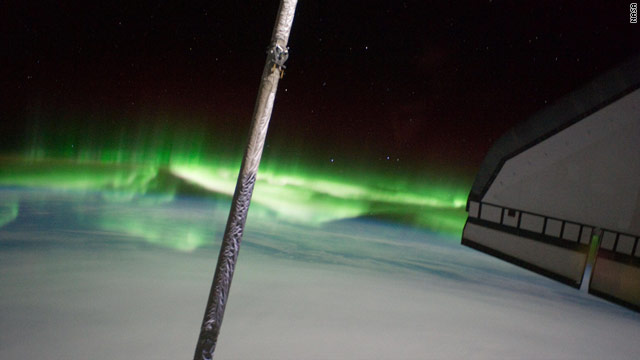 Shuttle pictures southern lights