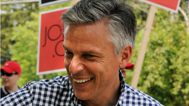 Huntsman rocks out to &#039;Charlie Brown&#039;