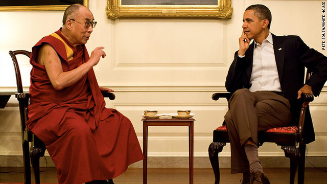Obama meets with Dalai Lama