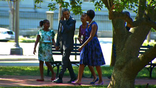 First Family heads to church