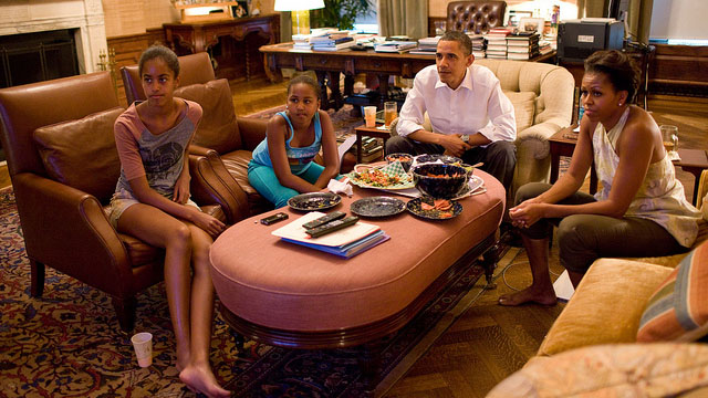 First Family watches World Cup final