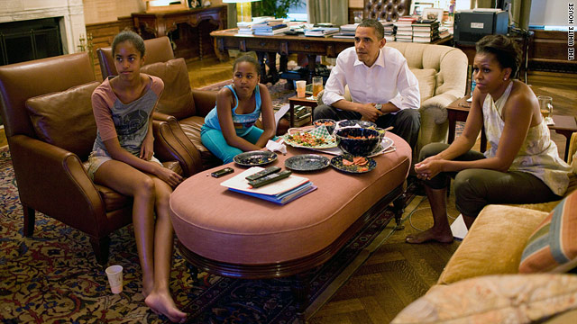 Photo: First family watches World Cup
