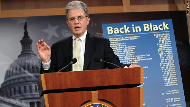 Coburn offers his own budget plan
