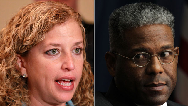 Wasserman Schultz, West let the fur fly