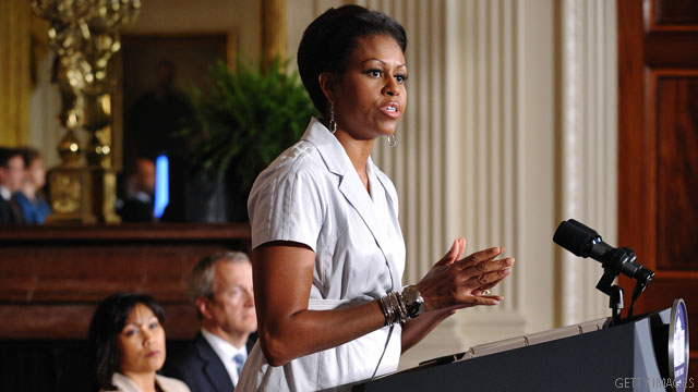First lady takes on 'food deserts'