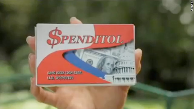 Conservative group makes parody ad on spending