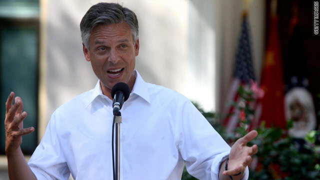 Huntsman makes his pitch to college students