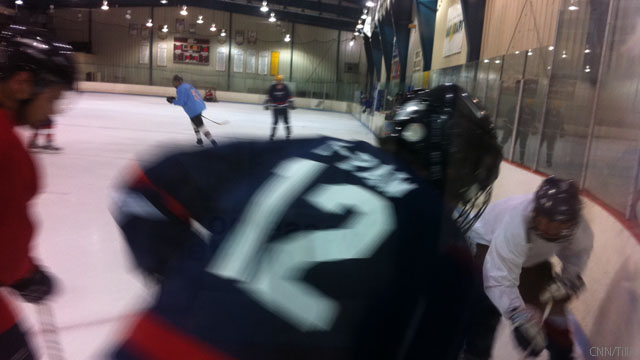 Photo: Pawlenty on ice