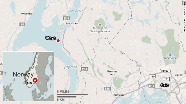 Utoya Island Map