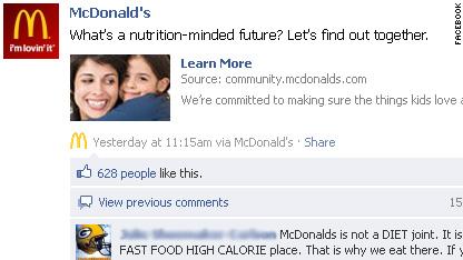 mcdonald's facebook