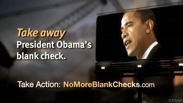New ads by major conservative group target administration