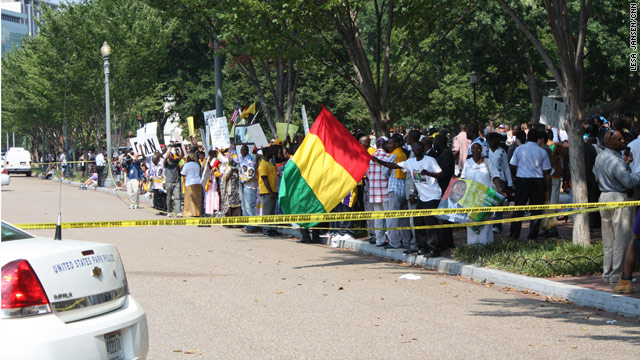 Protests outside White House Friday