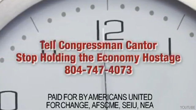 Progressives strike back in debt ceiling ad wars