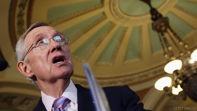Reid pushes to break filibusters of 17 judges